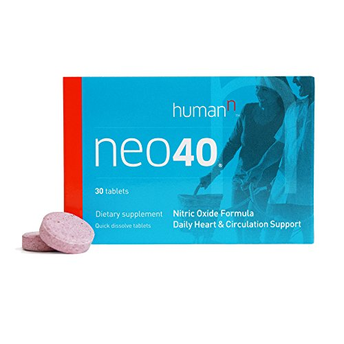 HumanN Neo40 - Daily Heart and Circulation Support - Nitric Oxide Formula - Dietary Supplement - Quick Dissolve 30 Tablets