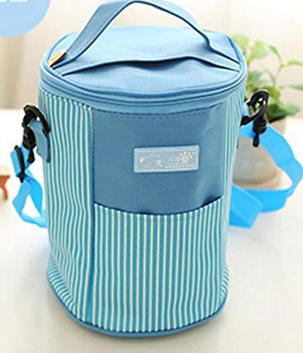 Japonais L'école Rayé Simple Travail De bleu À Bellecita Et Lunch Isolé Pour Sac Style D'isolation Carré Le qZwnUxR
