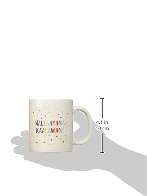 Buy 3drose Maligayang Kaarawan Happy Birthday In Filipino Rainbow Confetti Ceramic Mug 11 Ounce Mug 202024 1 Online At Low Prices In India Amazon In
