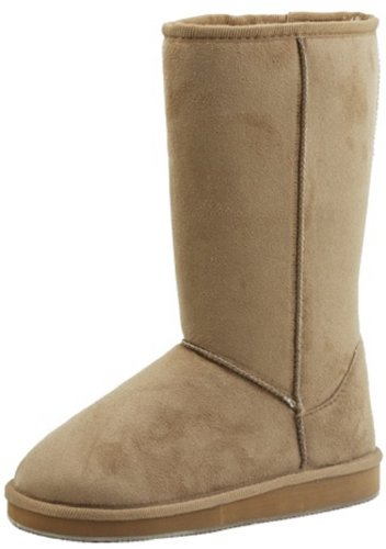 Review Soda Women's Soong Comfort Faux Suede Fur Mid- Calf Flat Boot, Nat, 8 M US, TPS Soong-S Natural Size 7