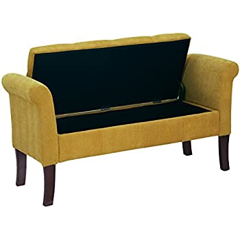 Amazon Com Premium Nailhead Storage Bench Modern