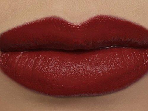 "Matte Vegan Lipstick in shade""Deathcap"" - neutral red"