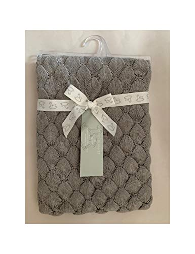 Peacock Alley Knitted Baby Blanket Gray