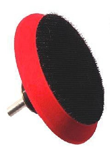 Aes Industries 2 3 4  Hook   Loop Backing Pad With 5 8  11 Polisher Threads For Using 3    4  Buffing And Polishing Pads  1 4  Drill Adaptor Included