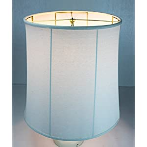 """HomeConcept 161818DRLO Collapsible Drum Lampshade Premium Light Oatmeal Linen, 16"""" x 18"""" x 18"""""""