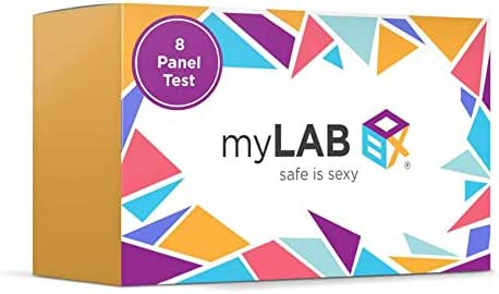STD at Home Test for Women Chlamydia, Gonorrhea, Trichomoniasis (Trich), HIV (1 & 2), Hepatitis C (Hep C), Genital Herpes (HSV-2), Syphilis (8 Panel) by myLAB Box