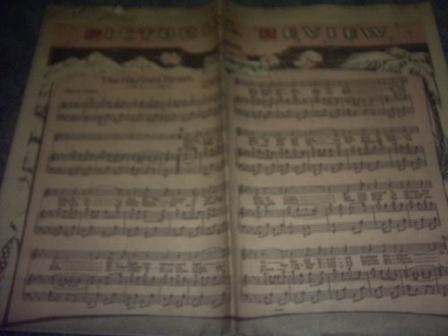 THE Marines Hymn Sheet Music Newspaper (PITTSBURGH SUN TELEGRAPH) ()