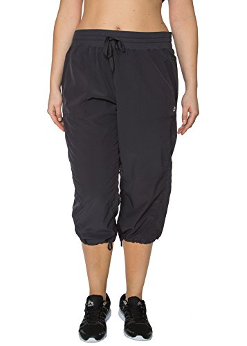 RBX Active Women's Plus Size Lightweight Body Skimming Drawstring Zumba Pant (Mustache Pantyhose)