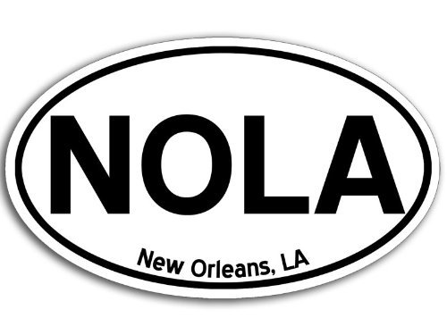 Nola Laptop Wrap (MAGNET Oval NOLA New Orleans Magnetic Sticker (cajun louisiana decal))