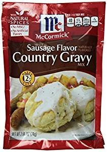 (McCormick Country Gravy Mix, Sausage Flavor, 2.64 oz(Pack of 5))