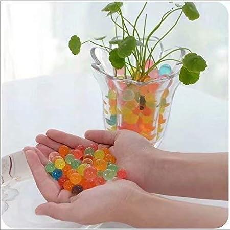 ZheJia 1000 bouless Aqua Gel Crystals Soil Water Beads 10 Packs Bio Gel Clear Gel Jelly Crystal Vase Blue