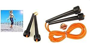 حبل قفز سكيبينج روب بلاستيكي للملاكمة ولزيادة اللياقة البدنية بلون برتقالي