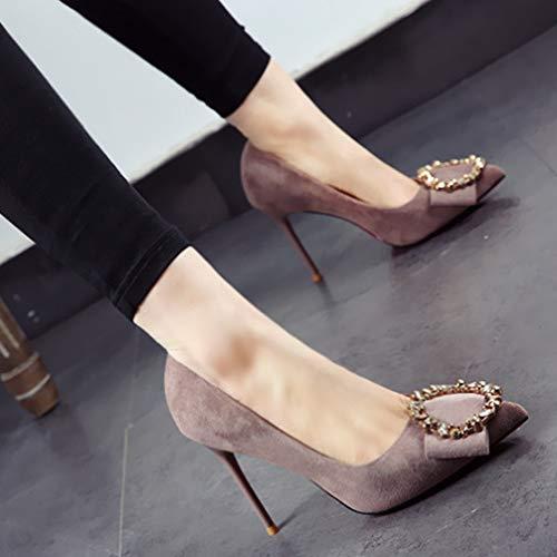 señalaron Solos Ante otoño Europea Atractivo el los Alto el Fino y Zapatos YMFIE Primavera Temperamento Zapatos del Trabajo del Rhinestone tacón A Temperamento con del del La del S70WnqS4xY