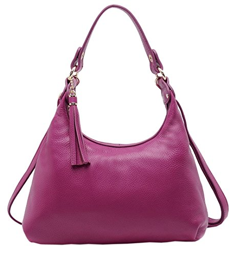 Womens New Watermelon Bags Purple Clutches Cowhide SAIERLONG bag Leather Genuine red Bags Wristlets Cross Body Shoulder 15qxdwEf