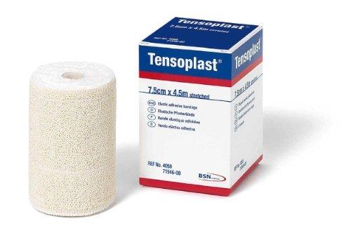 BSN Medical 02593002 TENSOPLAST Elastic Adhesive Bandage 1'' x 5 yd. Size, White (Pack of 36)