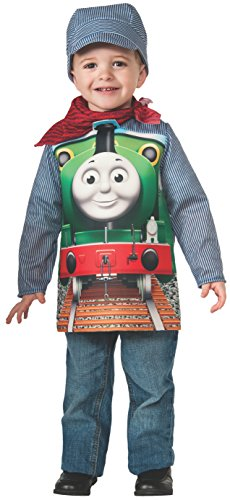 Percy The Train Halloween Costume (Rubies Thomas and Friends: Deluxe Percy The Small Engine and Engineer Costume, Child Small)