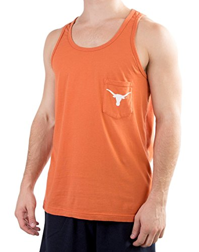 Men's University of Texas Lognhorn Logo Pocket Tank (Texas Tank Longhorns)