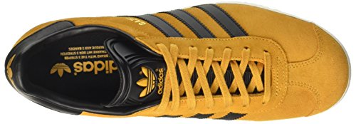 adidas Men's Gazelle Trainers Yellow (Tactile Yellow F17/Core Black/Gold Met.) dQ8ZH7
