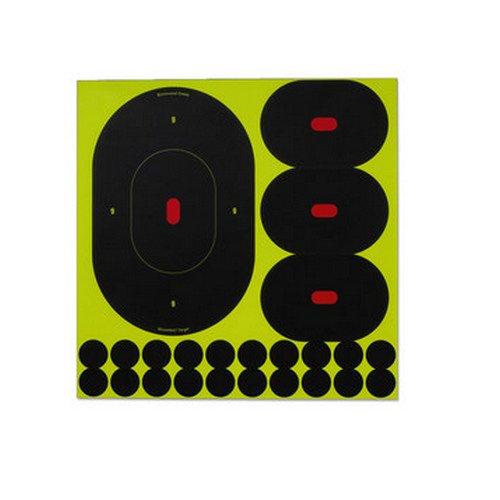 Birchwood Casey Shoot-N-C Silhouette Targets, 9 Oval, 6 Targets + 24 - N Oval