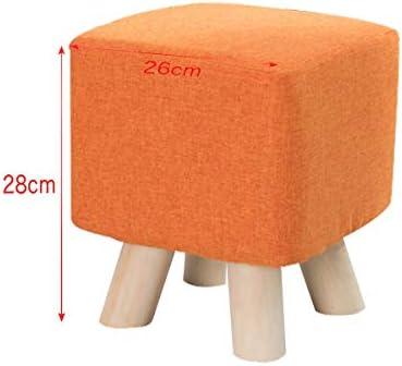 MUYUNXI Pied en Bois Massif Tabouret Creative Tabouret en Bois Massif Tissu Tabouret Mode Tabouret Moderne Multifonction Maison Chaise
