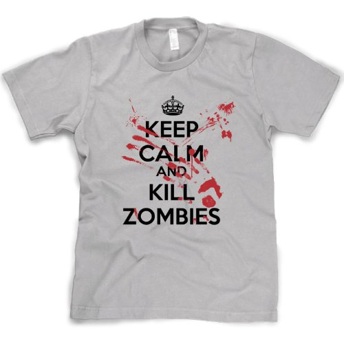 Crazy Dog TShirts - Keep Calm and Kill Zombies T shirt Outbreak Slash Movie Gag Gift Bloody - herren -