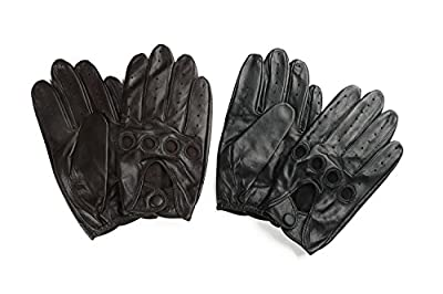 Ambesi Men's Classic Lambskin Leather Driving Gloves