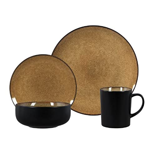 Gibson Novabella 16-Piece Reactive Stoneware Dinnerware Set Taupe  sc 1 st  Amazon.com & Dinnerware Made In Usa: Amazon.com
