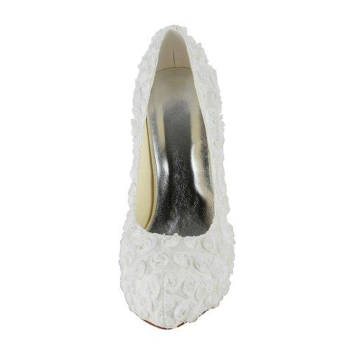 Jia Jia Wedding 20184 Hochzeitsschuhe Brautschuhe Damen Pumps Weiß