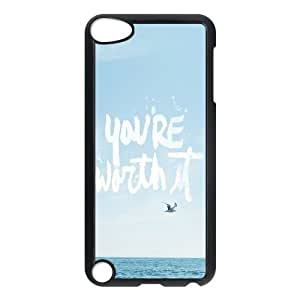 iPod Touch 5 Case Black You Are Worth It Suwfl