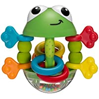 Infantino Topsy Turvy Flip Flop Frog Rattle (Green)