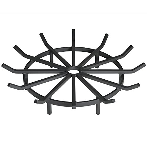 Heritage Products Heavy Duty Wagon Wheel Firewood Grate for Fire Pit, 28 Inch Diameter For Sale