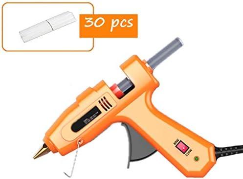 Minmin ホットメルト接着ガン、80W、DIYアートクリエーション、高速メンテナンス、オレンジに適し120Wデュアルパワープロフェッショナルホットグルーガン、純銅接着剤ノズルとブラケット、 ミニ (Color : B)