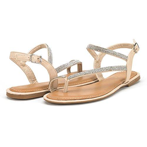 767af79c2 DREAM PAIRS Women s Atlas Ankle Strap Gladiator Flat Sandals ...