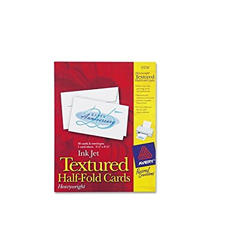 3 Pack Personal Creations Printable Textured Cards/Envelopes, 5-1/2 x 8-1/2, 30/Box by AVERY-DENNISON (Catalog Category: Paper, Envelopes & Mailers / Cards/Card Stock / Note Cards)