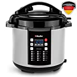 Mueller 10-in1 Pro Series Multi-Functional Pressure Cooker with German ThermaV Even Heat Technology