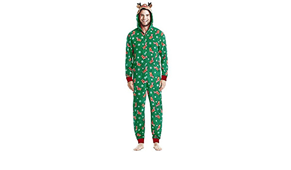 SRJSKR Coincidencia de Navidad de la Familia Pijamas Adulto ...
