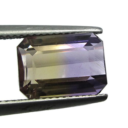 Top 5.110ct 11.3x8.2mm Octagon Natural Ametrine Untreated Yellow & Purple