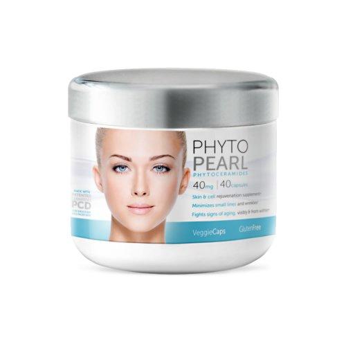 Phytoceramides de PHYTOPEARL - la peau et le rajeunissement de la cellule - 40 Veggie Caps - sans gluten - PCD de céramides brevetés - combat les signes du vieillissement & réduit les rides