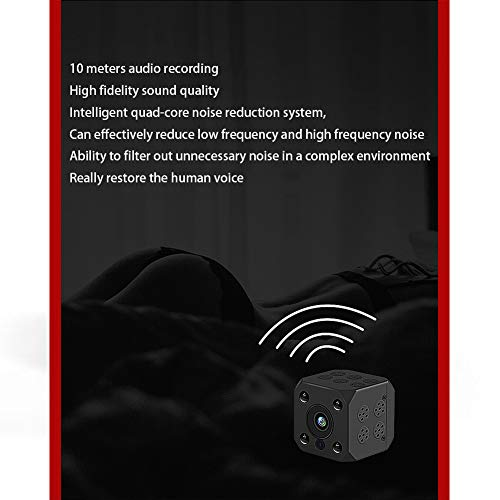 2.0MP Indoor Hidden Camera, Wireless 1080p Webcam,Home Security Mini IP Camera, Maximum Support 64G (3.43.43.4cm, Black)