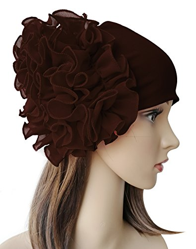 Chemo Cap,Turban Headwear,Multi Function Headwrap and Chemo Hats for Hairloss (223 Series, Coffee) ()