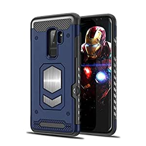 RaG&SaK Water Proof Magnetic Mount armour Case for Samsung S9 Plus- Blue