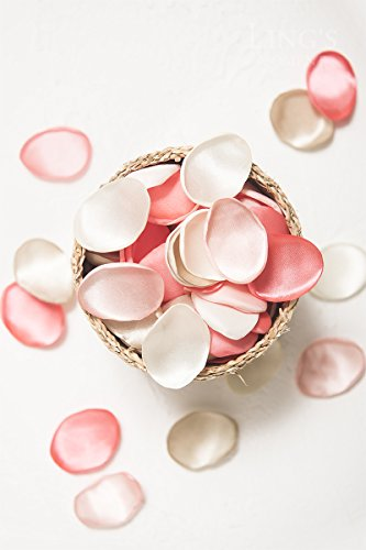 Ling's moment Artificial Flowers Silk Rose Petals 200PCS Flower Girl Scatter Petals for Wedding Party Aisle Centerpieces Table Confetti Home Decorations (200, Combo 8 - (Sweet 16 Flowers)