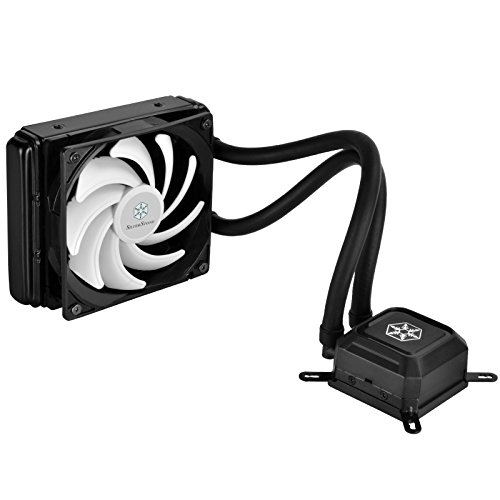 SilverStone Technology All-In-One Liquid CPU Cooler with Adjustable 120mm PWM Fan TD03-LITE