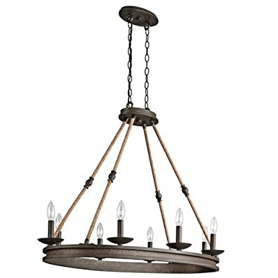 "Kichler 43422 Kearn 1 Tier Chandelier with 8-Lights - 72"" Chain Included - 38 In,"