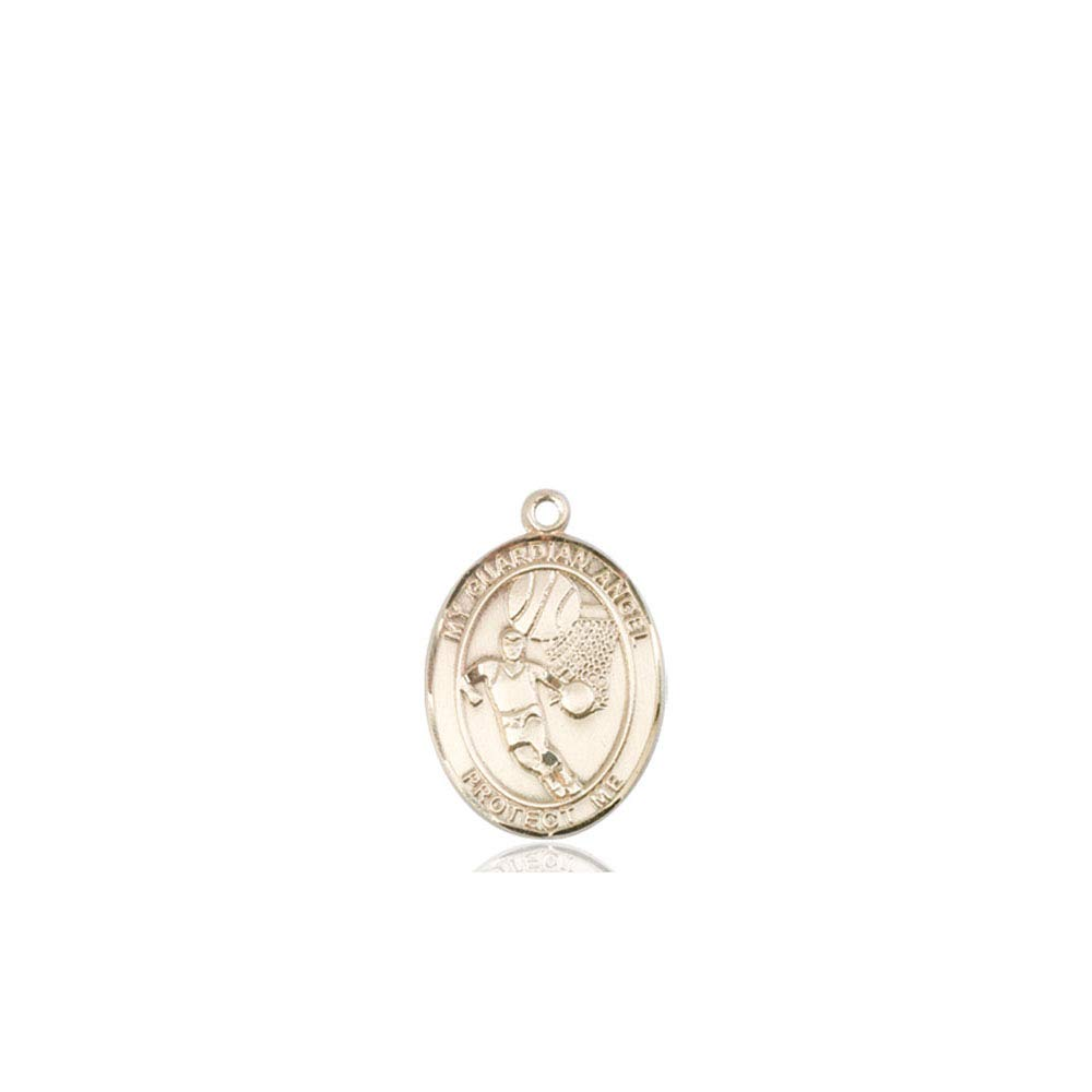 Medalla de oro de 14 quilates con diseño de ángel de la guardia ...