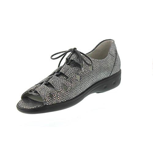 Waldläufer Kara, Tago (nubuck), Cement (grijs) Breed K 684800-117-013 Grijs (cement)