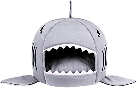 Leosi - Cama de tiburón para gato pequeño, cama acogedora para perro con cojín extraíble y colchón antideslizante, impermeable: Amazon.es: Productos para ...