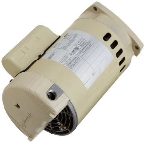Pentair 355020S Single Phase Square Flange Motor, 3/4 HP, Almond