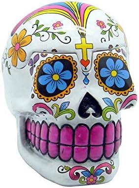 "Day of the Dead Calavera Sugar Skull Set of 2 Side Plates 7.5/"""