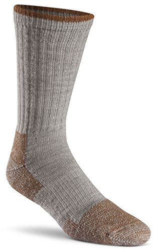 Fox River Men's Wick Dry Steel-Toe Wool Crew, Grey, Large - Heavyweight Ski Sock